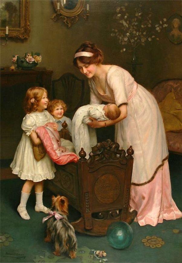 Спокойной ночи. Артур Джон Элсли (1861–1952), британский художник