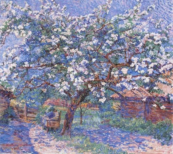 Цветущее дерево в саду (1916). Джо Костер (1868-1944), нидерландская художница