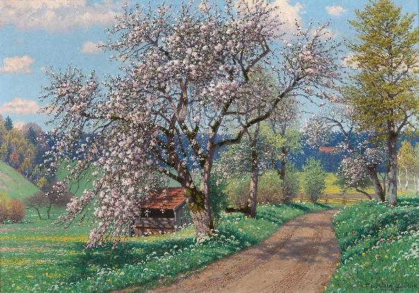 Весенний день. Фриц Мюллер-Ландек (1865-1942), немецкий художник