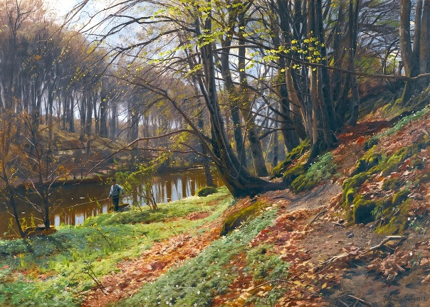 Весенний пейзаж в Сёби, 1912. Петер Мёрк Мёнстед (1859-1941), датский художник