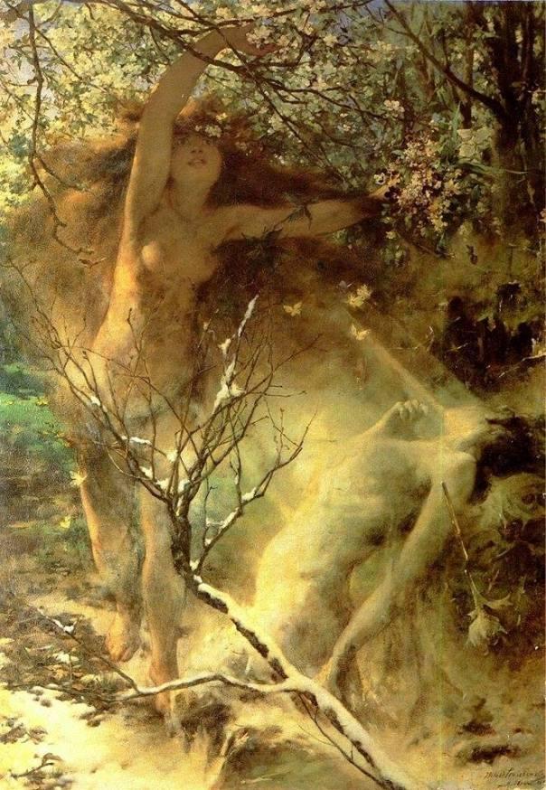 Весна (1887). Витольд Прушковский (1846-1896), польский художник.