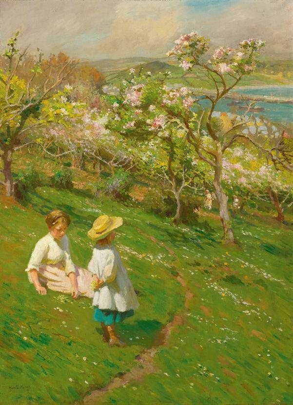 Весна в саду. Гарольд Харви (1874-1941), английский художник