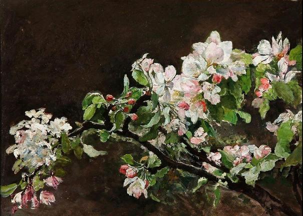 Яблоневый цвет. Берта Вегман (1847-1926), датский художник