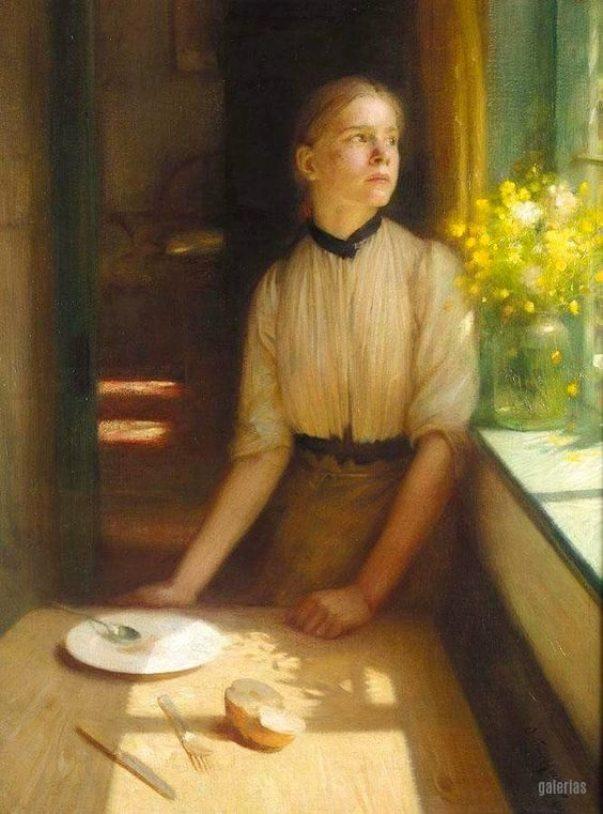 Запертая весна, 1911. Артур Хакер (1858-1919), британский художник