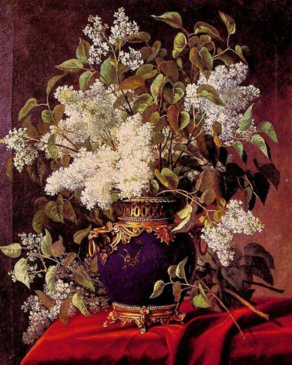 Белая сирень. Жан Капейник (1838–1890), бельгийский художник