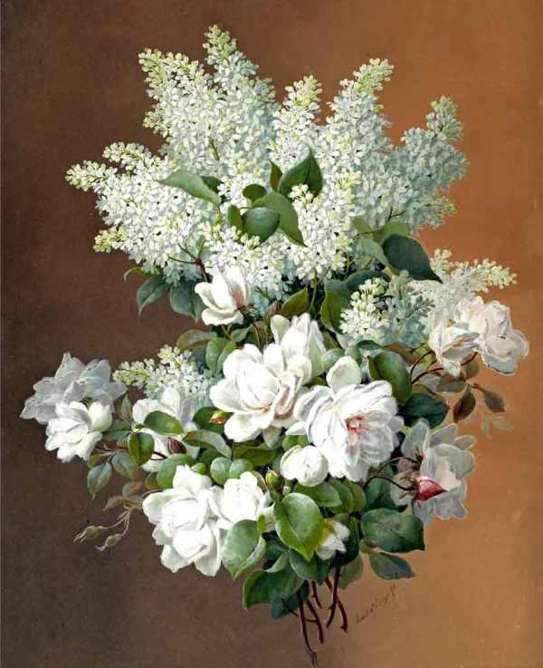 Белая сирень. Рауль де Лонгпре (1843-1911), французский художник