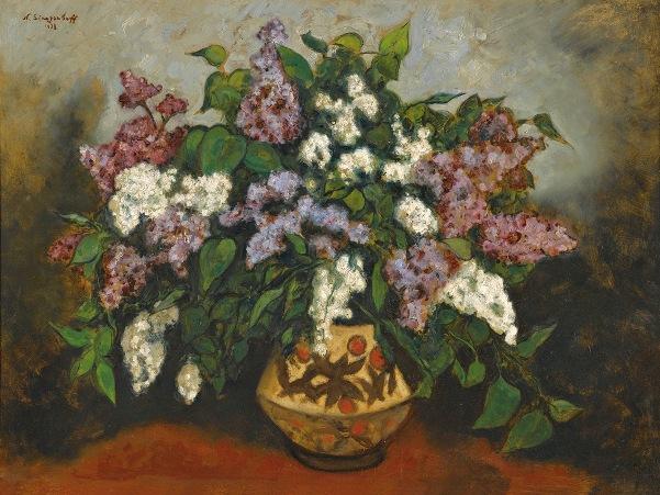 Букет сирени, 1938. Николай Владимирович Синезубов (1891-1956), художник русского зарубежья