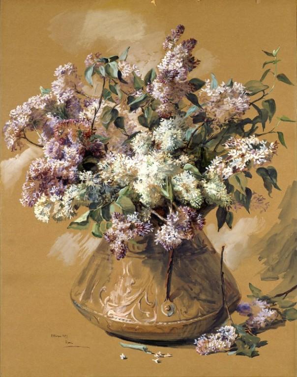 Сирень, 1899. Элизабет Нурс (1859-1938), американcкая художница