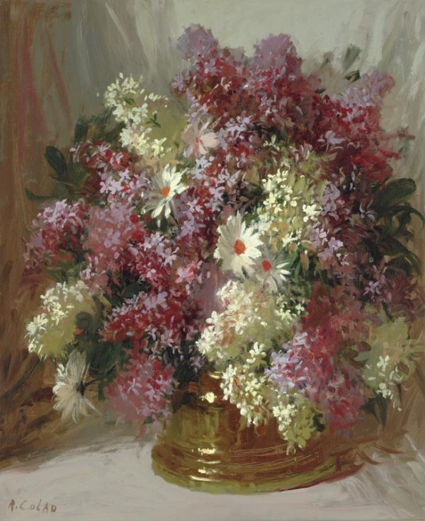 Сирень и ромашки. Руди Колао (1927-2014), американский художник