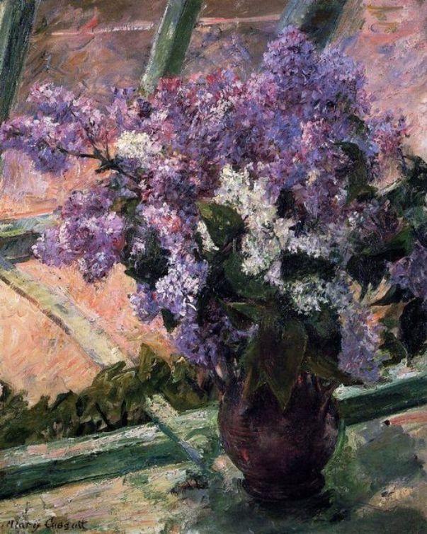 Сирень на окне. Мэри Кассат (1844-1926), американский художник