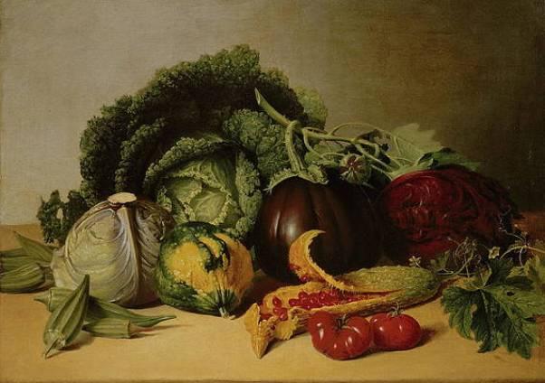 Бальзамическое яблоко и овощи. Джеймс Пил (1749-1831), американский художник