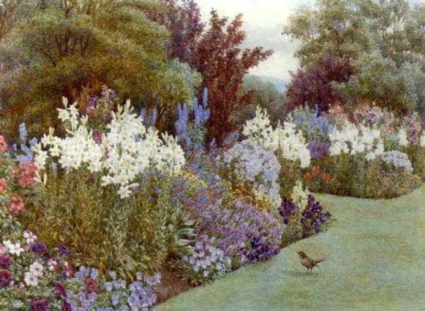 Лилии, Гранж, Оверстранд, Норфолк Lilies, the Grange, Overstrand, Norfolk. Эмма Парсонс (1870-1955), британская художница
