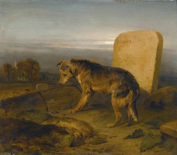 Бедный пес. Могила пастуха. Эдвин Генри Ландсир (1802–1873), английский художник