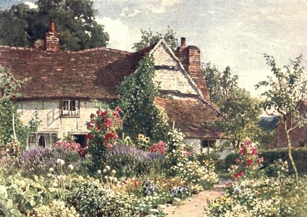 Деревенский дом в Суррее, 1906. Гарольд Саттон Палмер (1854-1933), английский акварелист