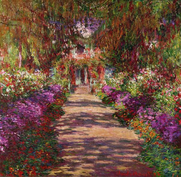 Дорожка в саду Моне, Живерни, 1902. Холст, масло. Клод Моне (1840-1926), французский художник