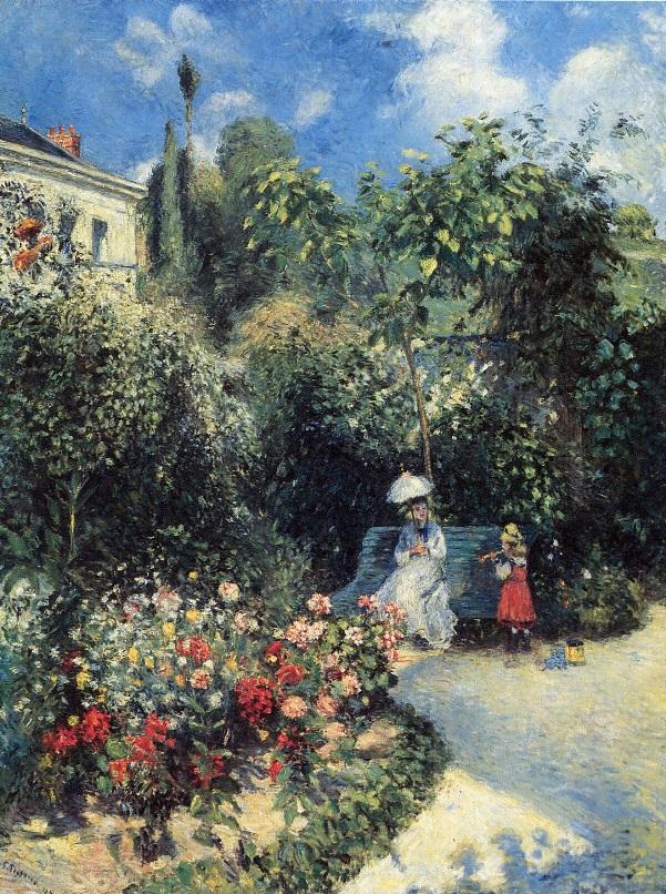 Фруктовый сад в Понтуазе, 1877. Камиль Писсарро (фр. Jacob Abraham Camille Pissarro; 1830-1903), французский художник