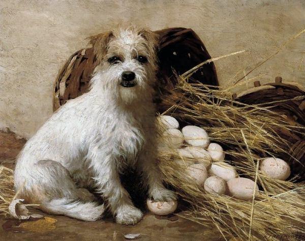 Коллекционер яиц. Дьюи Бейтс (Dewey Bates, 1851-1899), американский художник из Индианы, штат Пенсильвания. Известен портретами, жанровыми картинами, пейзажами.
