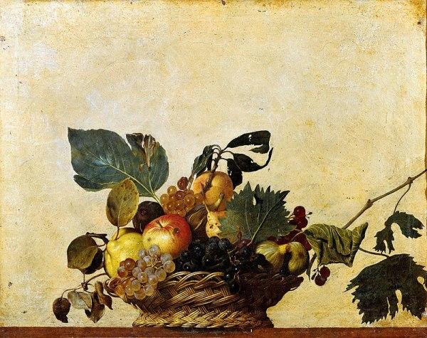 Корзина с фруктами, ок. 1596. Масло. Микеланджело Меризи да Караваджо (итал. Michelangelo Merisi da Caravaggio; 1571-1610), итальянский художник