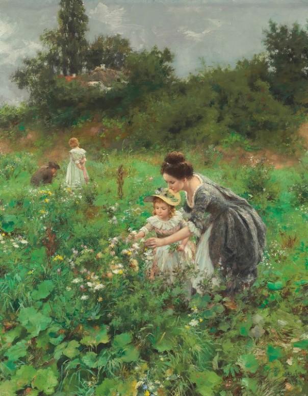 Летнее наслаждение, 1899. Герман Зигер (нем. Hermann Seeger, 1857-1945), немецкий художник