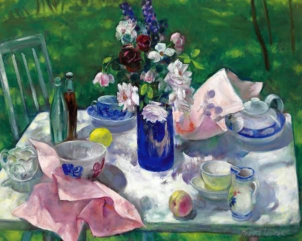 Летний пикник. Холст, масло. Марта Уолтер (1875-1976), американская художница. Частная коллекция