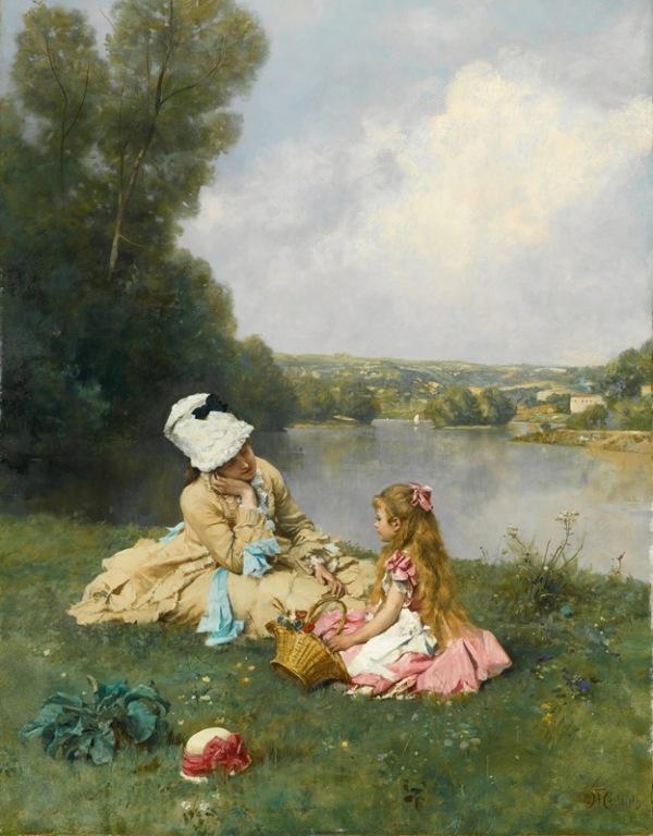Летние дни возле Живерни, Франция. Фердинанд Хайльбут (1826-1889), немецкий художник