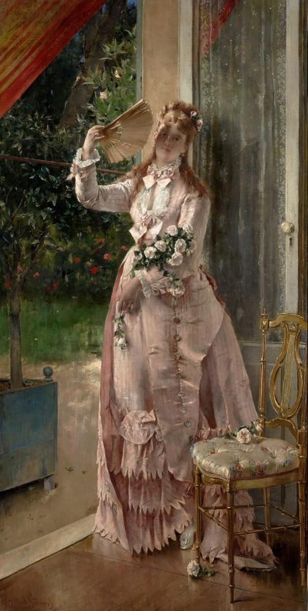 ето 1877. Альфред Стивенс (Alfred Stevens, 1817-1875), бельгийский художник