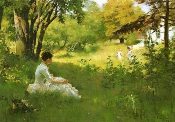 Лето, 1883. Альберт Эдельфельт (1854-1905), финский художник