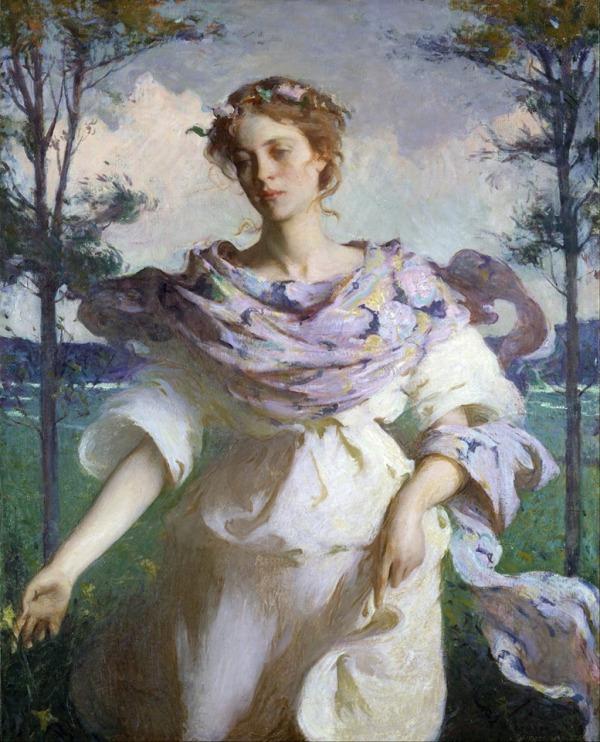 Лето, 1890. Фрэнк Бенсон (1862-1951), американский импрессионист.