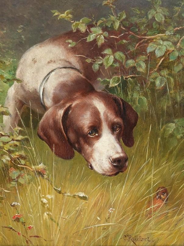 Маленький друг. Карл Райхерт (1836-1918), австрийский художник