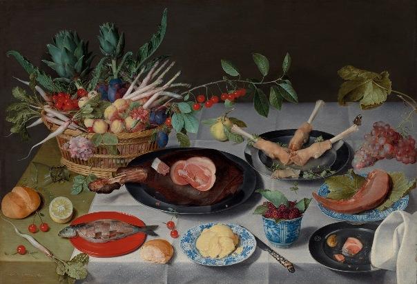 Натюрморт с мясом, рыбой, овощами и фруктами (ок. 1615–1620). Якоб ван Халсдонк (1582-1647), фламандский художник