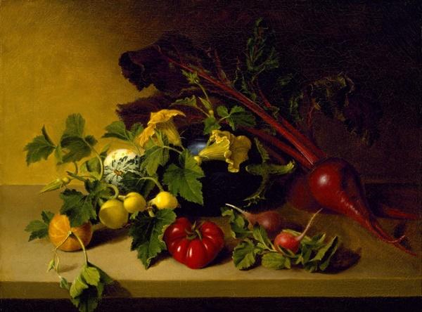 Натюрморт с овощами. Джеймс Пил (1749-1831), американский художник