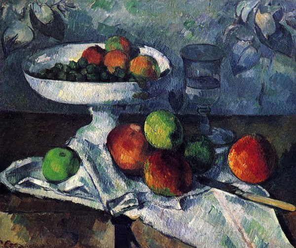 Ваза с фруктами, 1879–80. Поль Сезанн (1839-1906), французский художник. Музей современного искусства, Нью-Йорк.