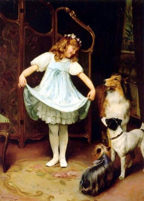 Новое платье. Артур Джон Элсли (1860-1952), британский художник