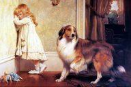 Особый защитник, 1893. Чарльз Бертон Барбер (1845-1894), британский художник, известен своими очаровательными картинами с детьми и животными.