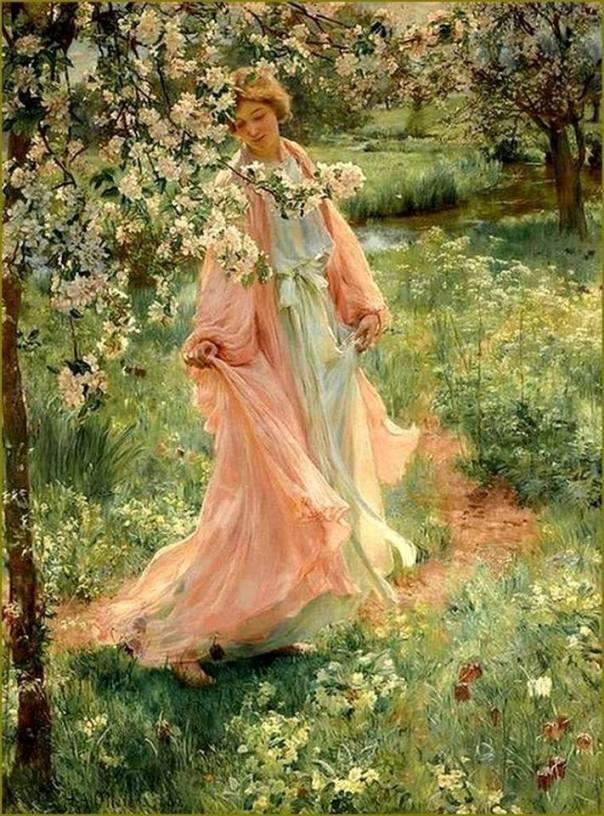 Песнь лета, 1902. Герберт Арну Оливер (1861-1952), британский художник
