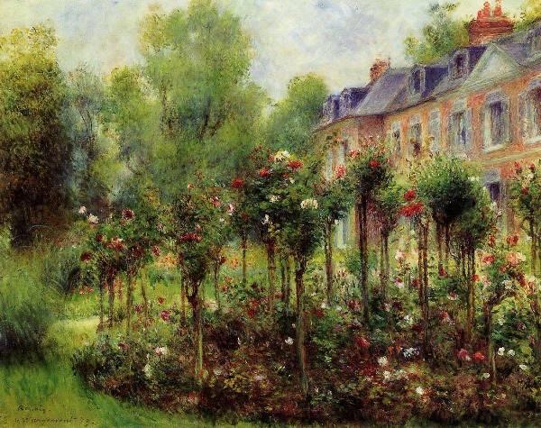 Розарий в Варжемоне, 1879. Пьер Огюст Ренуар (1841-1919), французский живописец. Частная коллекция