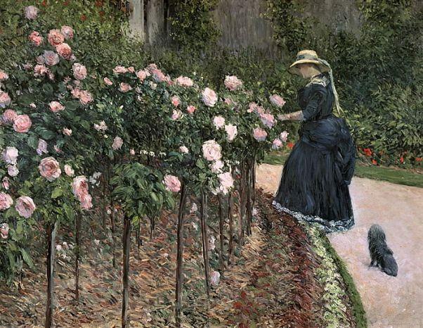 Розы в саду в Пети Женвилье, 1886. Гюстав Кайботт (фр. Gustave Caillebotte; 1848—1894), французский коллекционер и художник, представитель импрессионизма.