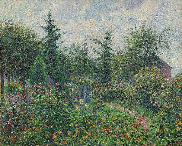Сад Октава Мирбо в Ле Дам, 1892. Холст, масло. Камиль Писсарро. Музей Барберини, Потсдам, Германия