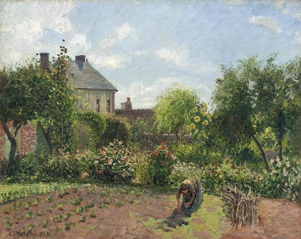 Сад художника в Эраньи, 1898. Камиль Писсарро (1830-1903), французский художник