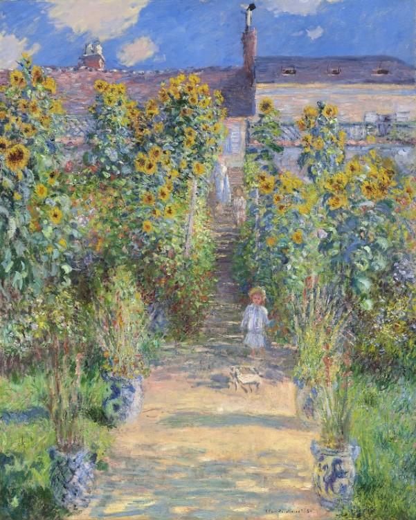 Сад художника в Ветёе, 1881. Клод Моне (1840-1926), французский художник