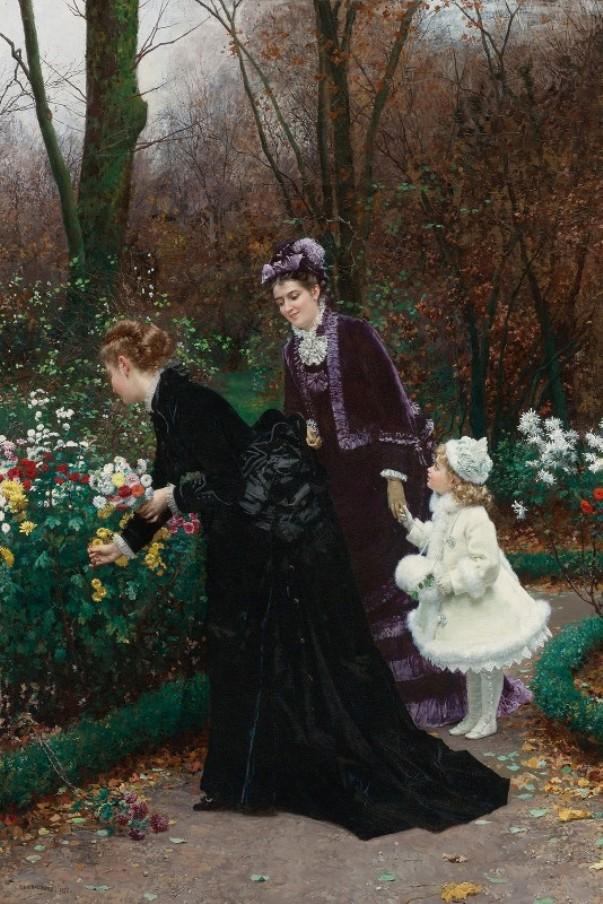 Сад крестной матери, 1875. Мари-Франсуа Фирмен-Жирар (1838-1921), французский художник