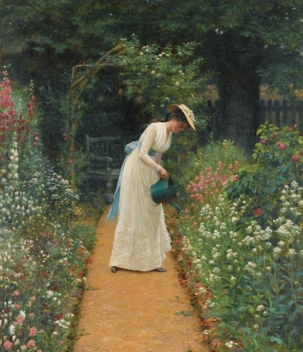 Сад моей леди, 1905. Эдмунд Блэр Лейтон (1853-1922), английский художник