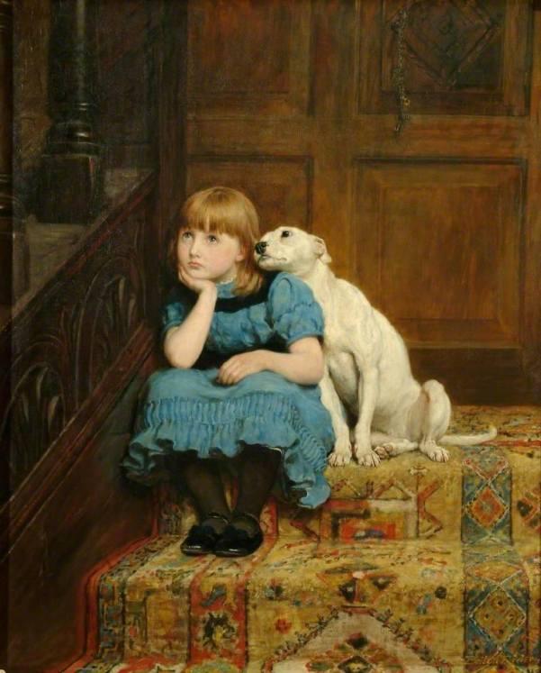 Симпатия. Холст, масло. Брайтон Ривьер (1840-1920), английский живописец. Royal Holloway, University of London