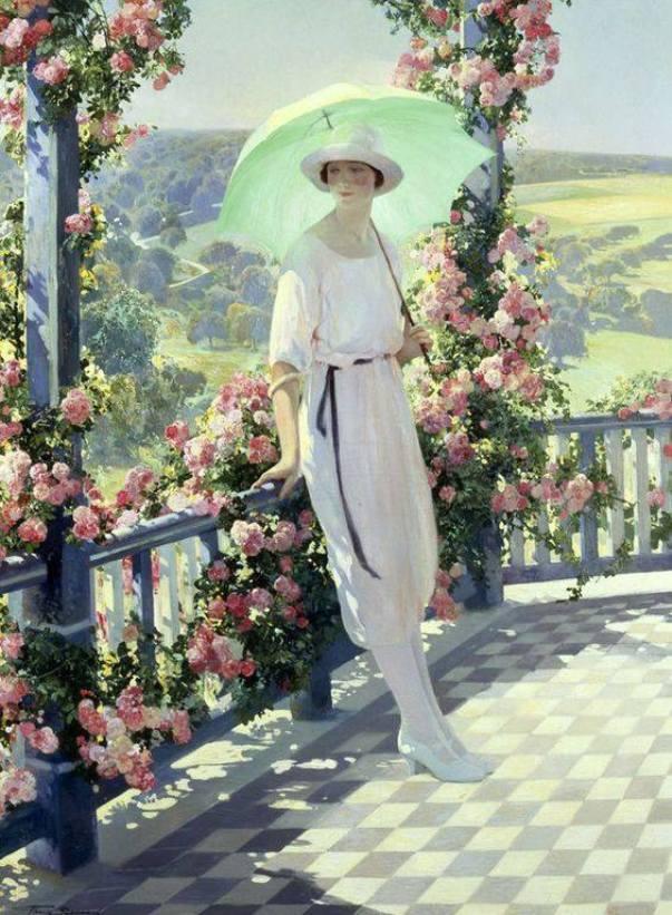 Солнечная терраса. Фирмин Баес (1874-1943), бельгийский художник