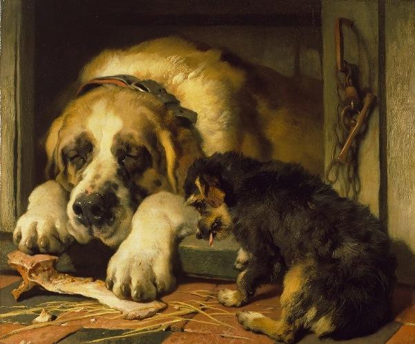 Сомнительные крошки, 1858 - 1859. Эдвин Генри Ландсир (1802–1873), английский художник