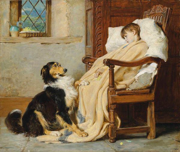Старые друзья, 1883. Брайтон Ривьер (1840-1920), английский живописец