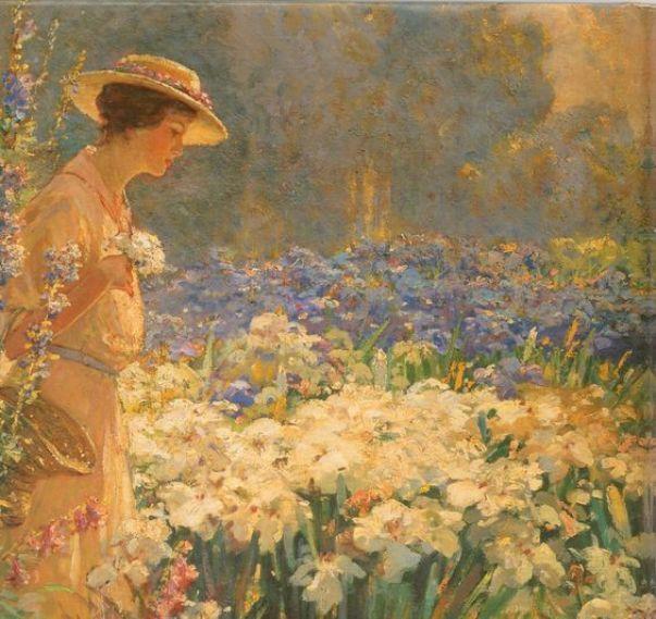 Цветочный сад. Художник неизвестен