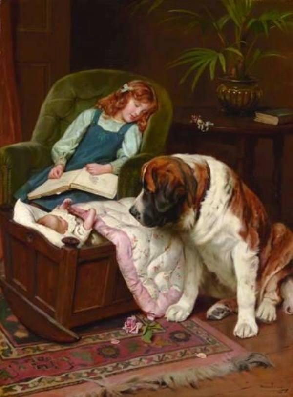Верный страж, 1911. Холст, масло. Артур Джон Элсли (1860-1952), британский художник