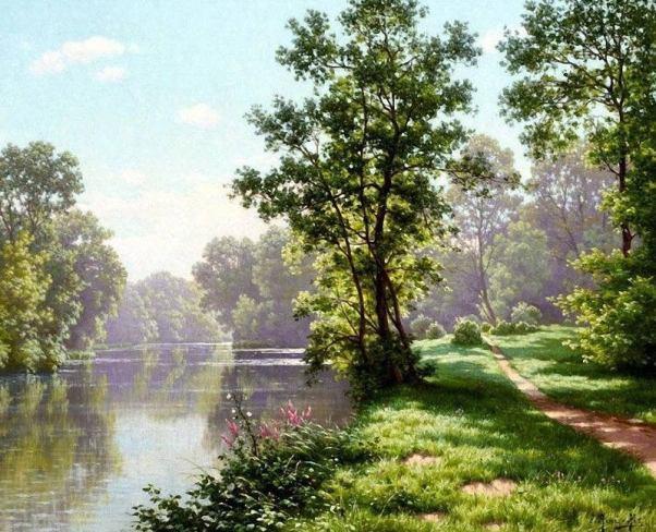 Жаркий летний день. Рене Шарль Эдмон Хис (1877-1960), французский художник