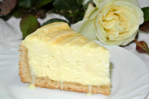 Овсяный пирог с творожным кремом